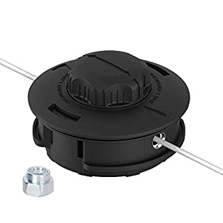 AOSOME Tap and Go Universal Strimmer/Trimmer Head - with 4mx2.4mm Strimmer Wire - Spares Parts for 52CC 43CC 33CC 26CC Garden Petrol Grass Trimmer & Brush Cutter