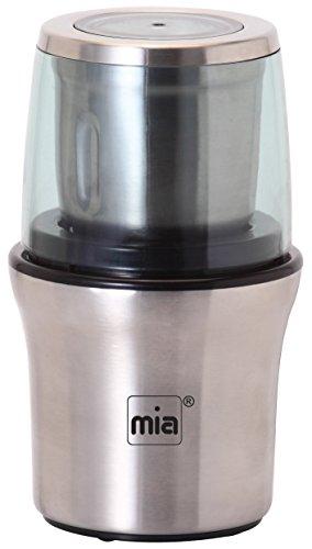 Mia MC 1190 Multi-Zerkleinerer und Universalmühle, leistungsstarke 200 W, 2 Edelstahl-Behälter, Aufsätze in einem Gerät