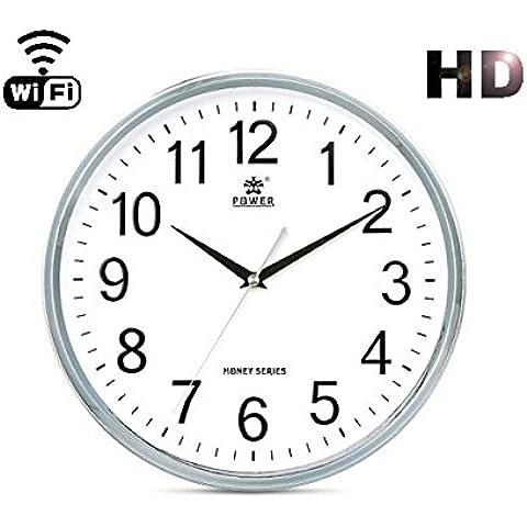 Agente007 - Camara Espia Wifi P2P Ip Oculta En Reloj De Cocina Hd 720P Grabacion Sd