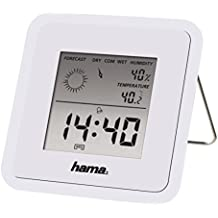 Hama TH50 - termómetros ambientales (Digital, Rectangular, CR 2025, 8 cm, 1,3 cm, 8 cm) Color blanco