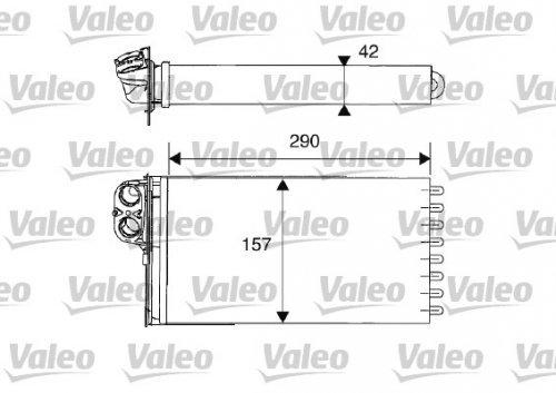 Preisvergleich Produktbild Valeo 812212 Wärmetauscher, Innenraumheizung
