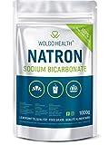 WoldoHealth Soda di Carbonato qualità Alimentare - 1.000g Polvere purezza Oltre 99,9%