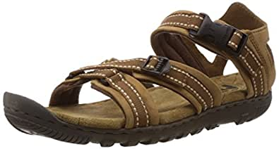 Woodland Men's Camel Leather Sandals and Floaters - 6 UK/India (40 EU)