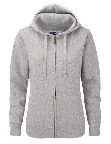 Z266F Damen Authentic Hooded Sweatjacke Sweatshirtjacke Jacke mit Kapuze, Größe:L;Farbe:Light Oxford -