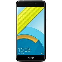"""HONOR 6C PRO SMARTPHONE LIBRE EMUI 5.1 (Pantalla de 5,2"""" HD, 4G, cámara trasera 13MPx y frontal 8MPx, 3GB de RAM, 32 GB de ROM, Procesador Octa Core, bateria 3000 mAh, sensor de huellas, ANDROID), NEGRO"""