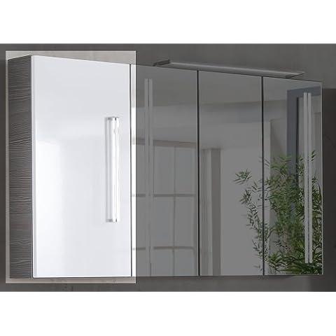 35x 68cm armadio Lugano/Como colore (Front): Bianco, colore (corpo): Pino antracite, orientamento: porta bacheca sinistra