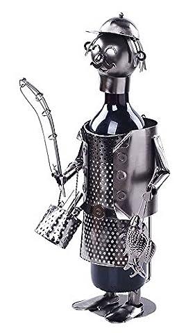 Porte-vin Porte-bouteilles en acier inoxydable Porte-bouteilles en métal moderne