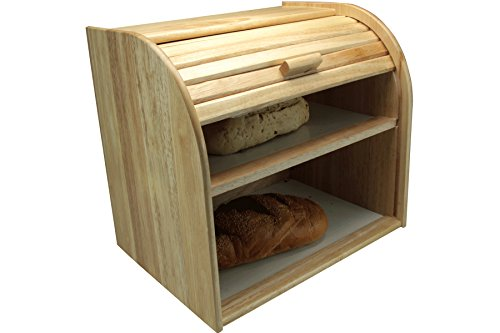 Apollo Rubber Wood Bread Bin Double Decker