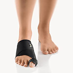 Bort Bort 930030 Small Left Valco Soft Hallux Valgus Splint Big Toe Textile for Corrective Stabilising Orthosis of Big Toe Joint Pack of 1, Small, Black