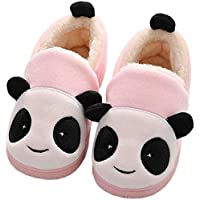 Girls House Slippers Kids Plush House Shoes Children