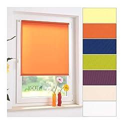 ourdeco Mini-Rollo / 100 x 150 Terracotta/lichtdurchlässig, Blickdicht/Farben: weiß, beige, gelb, grün, Terracotta, violett, blau/Klemmen=Montage ohne Bohren=Smartfix=Klemmfix=Easy-to-fix