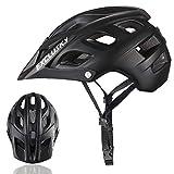 Exclusky Adultos Casco de Bicicleta Para Deportes de Ciclismo,56-61cm (negro)