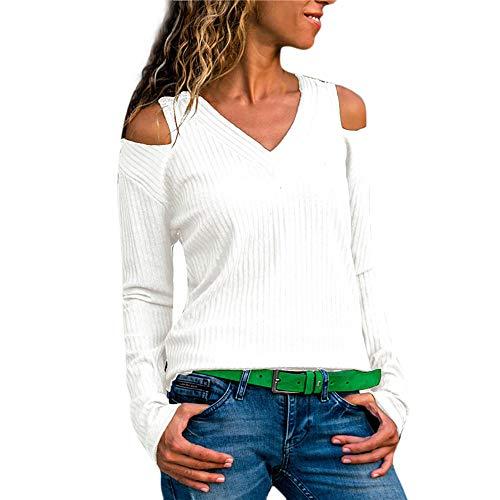 UFODB Damen Pullover Winter, Frauen Sweatshirt Nähen Rundhals Fashion Bluse Drucken Oberteile Lange ärmel Casual T-Shirt Hemd Freizeithemd Langarmshirt ()