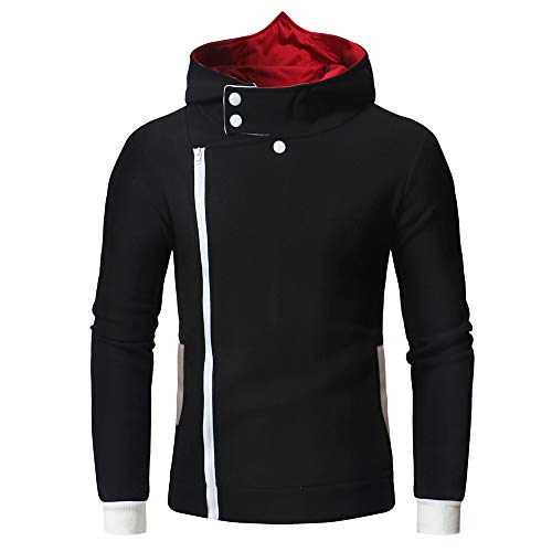 MIRRAY Herren Drucken Zipper Kapuzenpulli Mantel Pullover