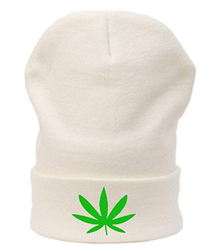 Beanie hat Bonnet Fashion Jersay Oversize Bad Hair Day Fresh I Love Gunja Weed Leaf