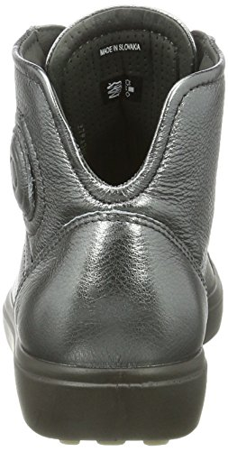 Ecco Soft 7, Sneakers Hautes Femme Grau (1602DARK SHADOW)