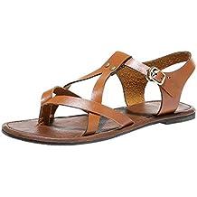 HuaMore, Verano Sandalias de Mujer, Estilo Bohemio, Casual Planas Cómodo Zapatos,Zapatos