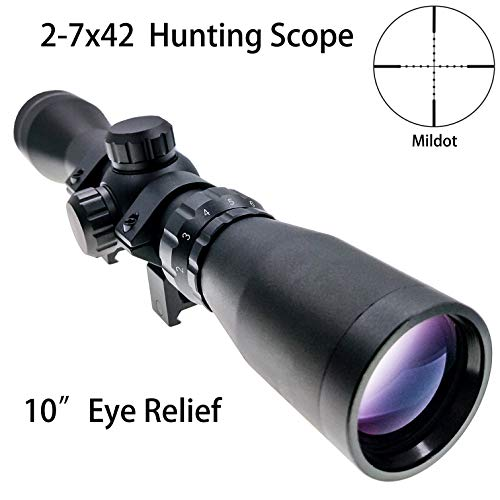 Hauska Táctico 2-7x42 Long Eye Relief Scope Mira
