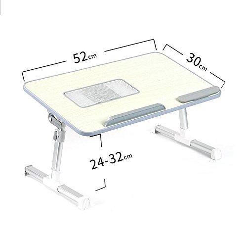 LIAN-wall table Portable Laptop Bett Schreibtisch, Faltbare Notebook Lesehalter Wohnheim Student Multifunktions Einstellbare Kleine Frühstück Tablett Schreibtische Workstations (Farbe : Gray) -
