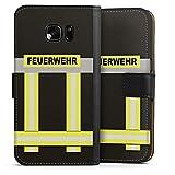 DeinDesign Samsung Galaxy S7 Tasche Leder Flip Case Hülle Feuerwehr Feuerwehrmann Firefighter