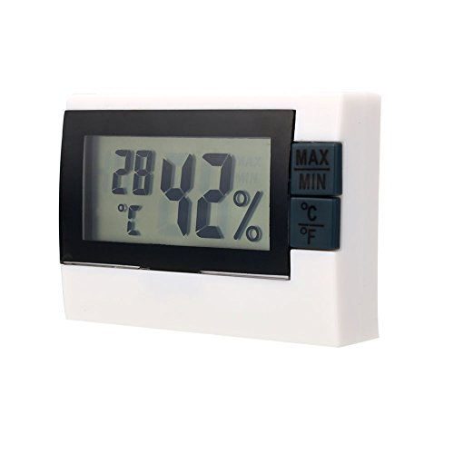 Digital Thermometer hygrometer 1pcs Indoor Weather Thermometer Hygrometer Gauge Überwachen Sie Temperatur- und Feuchtigkeitsmesser für das Home Office Weiß (Indoor-office-thermometer)