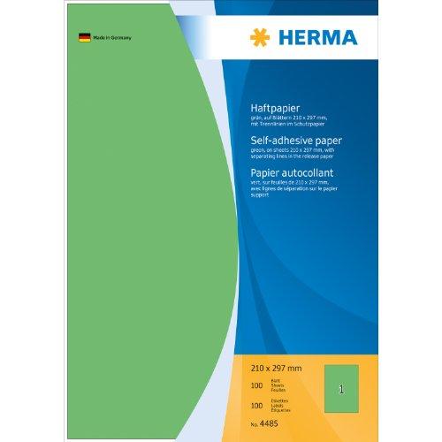Herma Haftpapier - Etiquetas adhesivas con identificación por colores (100 unidades), verde