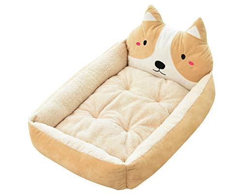GUOCU Heimtierbedarf Haustierbett Weich Schlafplatz für Hund Katzen Haustier Abnehmbar Waschbar die meisten Haustiere und Häuser zu entsprechen Beige S
