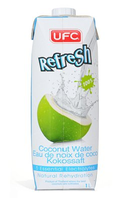 (Pack of 12) UFC - Refresh Coconut Water 1000 ML