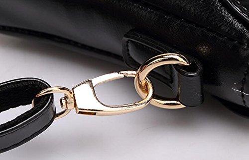 Umhängetasche Damen Handtasche Messenger Bag Mode Kleine Satchel Reißverschluss Platz Blue