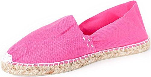 Sommerlatschen Espadrilles, Handmade, Pink, Unisex, SL1230 Pink (Pink)