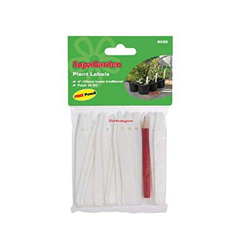 Supa Étiquettes garden-plant 10,2 cm/10 mm.
