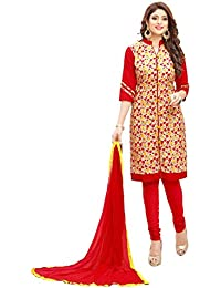 AnK New Arrival Women's Cotton Multi Color Dress Material With Plain Salwar