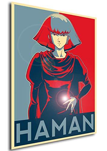 Instabuy Poster Z Gundam Propaganda Haman - A3 (42x30 cm)