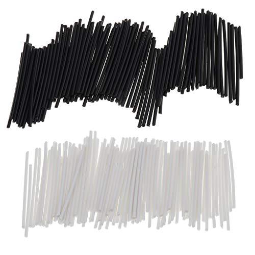 Perfeclan 200x Positionsmarkierungen für Gitarre/Bass/Ukulele In 2 Farben- Schwarz und Weiß