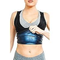 NOVECASA Chaleco Sauna Mujer Premium Polímero Pérdida de Peso para Modelador Sudoración Fitness (2XL/3XL(Cintura 83-90CM))