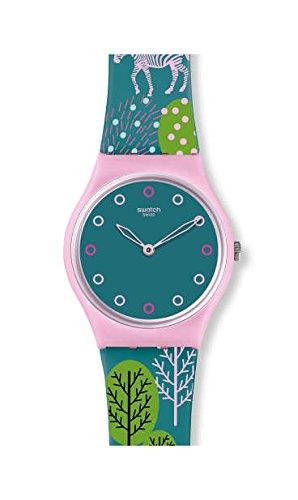 Orologio Swatch Gent GP152 Al quarzo (batteria) Plastica Quandrante Verde Cinturino Silicone