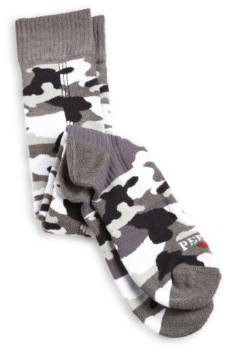 Hot Chillys Herren Camo Med Cush Socke, Herren, Charcoal/Storm (Chillys Hot Winter Socken)