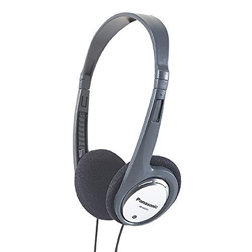 Panasonic RP-HT030E-S Bügelkopfhörer (Kopfhörer faltbar; 1,2m Kabellänge; 3,5mm Klinkenstecker) silber