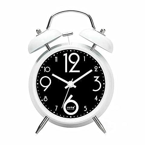 Silencieux non Ticking Réveil super fort Horloge Double de Bell réveil