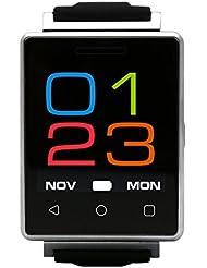 Pulsera Inteligente Deportes Con Monitor De Ritmo CardíacoReloj Inteligente para IOS / Reloj Inteligente para NadarPulsera Inteligente Despertador, MUJG7 & Reproducción De Vídeo MP4 Cámara Remota Bluetooth - [ Plata ]