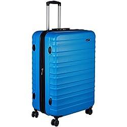 AmazonBasics Valise de voyage à roulettes pivotantes, Bleu clair, 78 cm