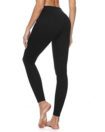 crafeel vita alta pantaloni da yoga fitness esercizio allenamento facendo yoga leggings per le signore Nero
