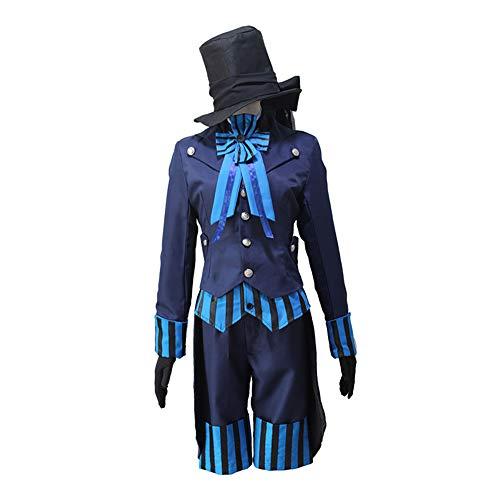 Lady Ciel Kostüm - Hzd Inspiriert von Black Butler Ciel Phantomhive Anime Cosplay Kostüme japanische Cosplay Anzüge einfarbig Langarm Krawatte/Shirt/Top für Männer,Women,S