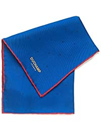Duchamp Lido Blue Silk Spot Print Pocket Square