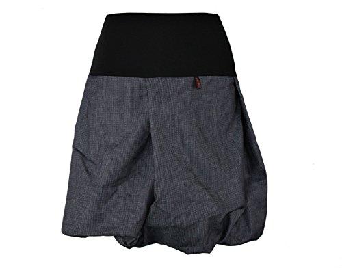 dunkle design Ballonrock Jeans Schwarz Weiß