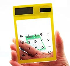 Generic Portable LCD 8 Digit Touch Screen Ultra slim Transparent Solar Calculator