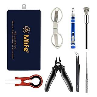 Elektronische Zigarette Zubehör, DIY Tools Set, Schere Keramik Pinzette Drahtschneider Schraubendreher Pinsel Multifunktions-Handwerkzeug