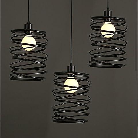 Moderna lampada pendente Personalità minimalista creative lampadario in ferro ristorante