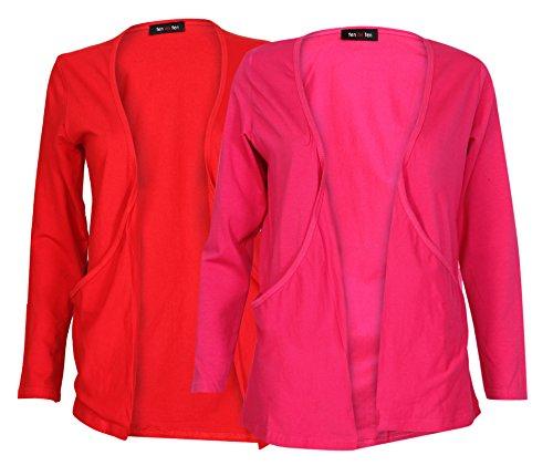 Ten On Ten Women's Shrug (FP-REDPNK _Red/ Pink _Free Size)