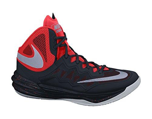 Nike Prime Hype DF II, Chaussures de Sport-Basketball Homme, Taille Noir / Argenté / Orange / Gris (Blk/Rflct Slvr-Brght Crmsn-Brg)